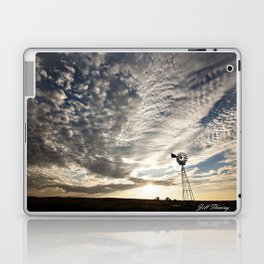 Sandhills Windmill @ Sunset Horizontal Laptop & iPad Skin