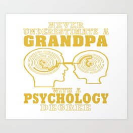Psychology Grandpa Art Print