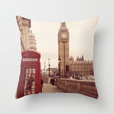 London Booth Throw Pillow