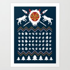 Ugly Mononoke Sweater Art Print