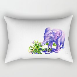 Big Boy, Purple Elephant painting of baby elephant living at David Sheldrik Wildlife Trust in Kenya Rectangular Pillow