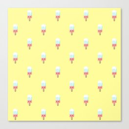 Kawaii melting popsicle pattern Canvas Print