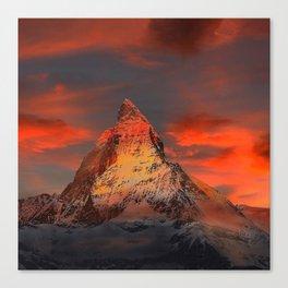 Mountain Matterhorn Switzerland Canvas Print