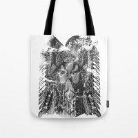hawk Tote Bags featuring Hawk by Kristian Boserup