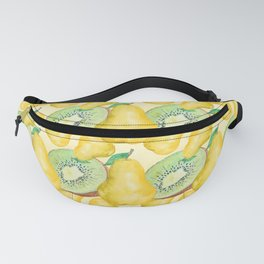Watercolor Kiwi and Pear Fanny Pack