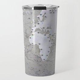 Riveted metal - Organic World Map Series Travel Mug