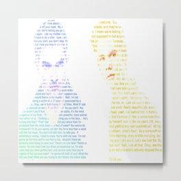 Sterek Quotes Metal Print