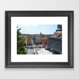 Smoker in Rome Framed Art Print