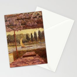 The Trellis by the River by Ferdinand Du Puigaudeau Stationery Cards