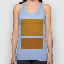 Antique Yellow  & Yellow Ochre Mid Century Modern Abstract Minimalist Rothko Color Field Squares Unisex Tank Top
