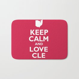 Keep Calm and Love CLE Bath Mat