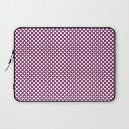 Sugar Plum and White Polka Dots Laptop Sleeve