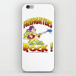 FIRE FIGHTERS ROCK Vibrant Haltone Edition iPhone Skin