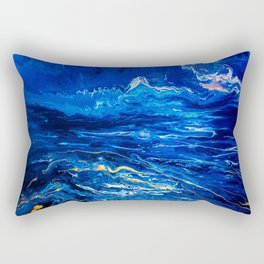 Fluid Expressions - Midnight Seas Rectangular Pillow