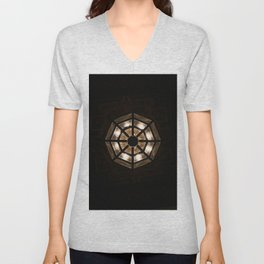 Shine Bright Dark Night - Geometry of Light Unisex V-Neck