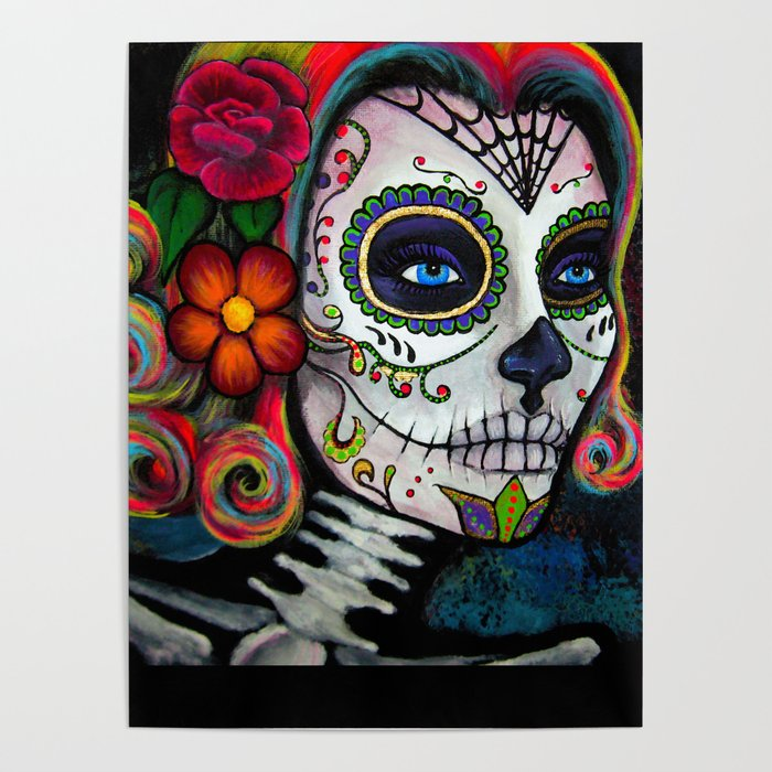 Sugar Skull Candy Poster By Connieens Society6