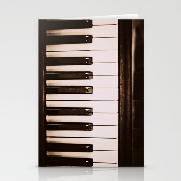 Piano Keys Stationery Cards