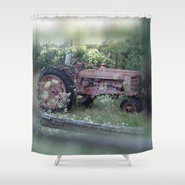 Texas Farm Relic Shower Curtain
