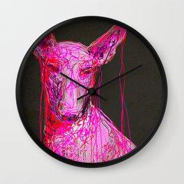 Plastic Pharaoh Hound Wall Clock
