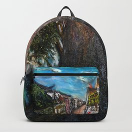 Pontoise (oil on canvas) Backpack