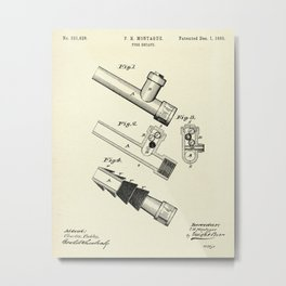 Fire Escape-1885 Metal Print