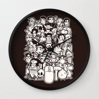 discworld Wall Clocks featuring Point and Click  by Hoborobo