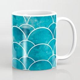 mermaid print // for sea lovers // turkish blue // aquamarine // watercolor stains // mermaid party Coffee Mug