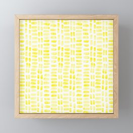 Abstract rectangles - yellow Framed Mini Art Print