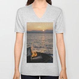 Seaside Serenity Unisex V-Neck