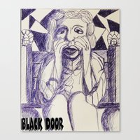 prince Canvas Prints featuring Prince by black door