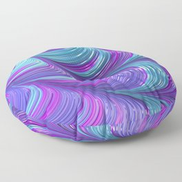 Jewel Tone Abstract Floor Pillow