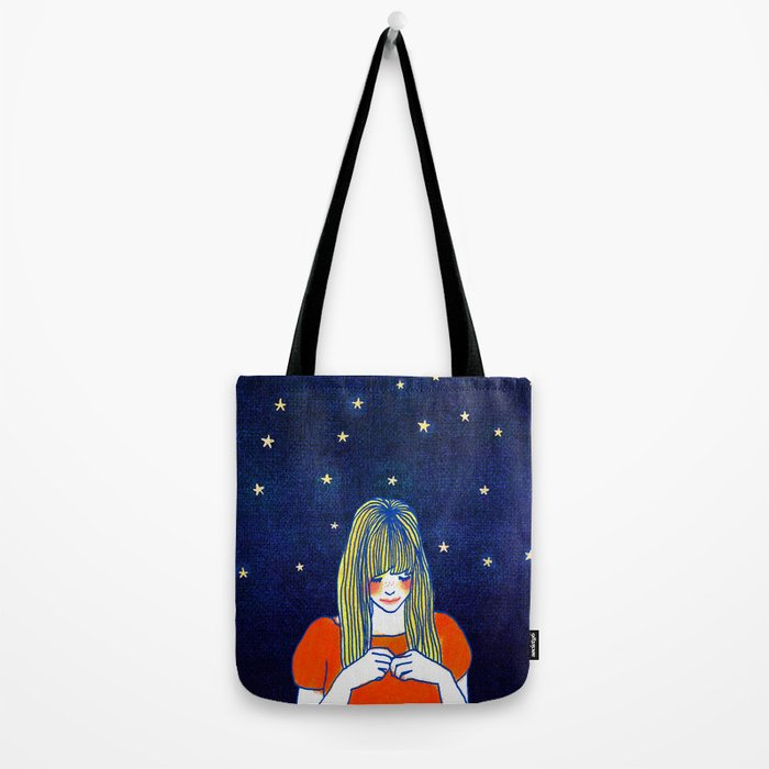 Girls in blue Tote Bag