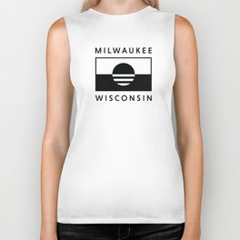 Milwaukee Wisconsin - Black - People's Flag of Milwaukee Biker Tank