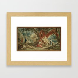Resting Diana, from the Triumph of the Gods Framed Art Print