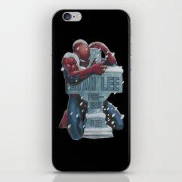 Lovely Spider-Man hug Stan Lee iPhone Skin