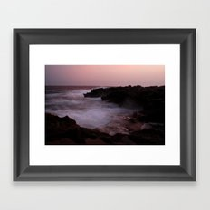A Menorca Storm. Framed Art Print