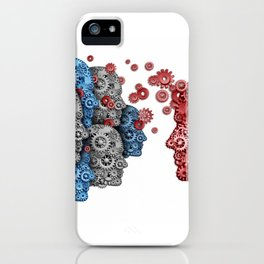 Head of the mechanisms iPhone Case