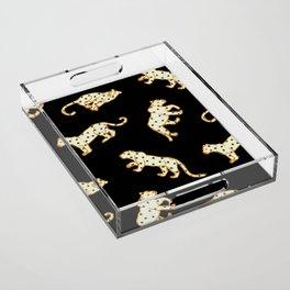 Leopard at Night Acrylic Tray