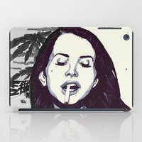 ultraviolence iPad Cases featuring The Sad Girl by Robert Red ART