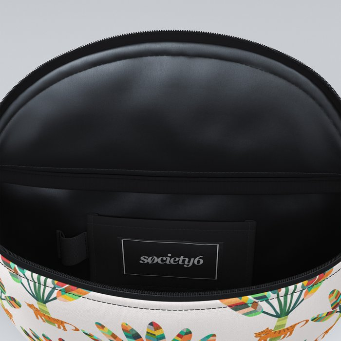 Whimsical travelers palm with tiger Fanny Pack