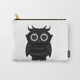 Black Owl Carry-All Pouch
