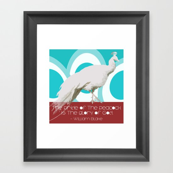 The Pride of the Peacock Framed Art Print