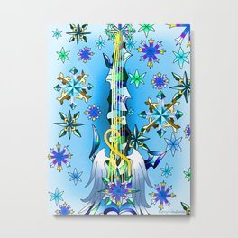 Fusion Keyblade Guitar #61 - Diamond Dust & Oathkeeper Metal Print