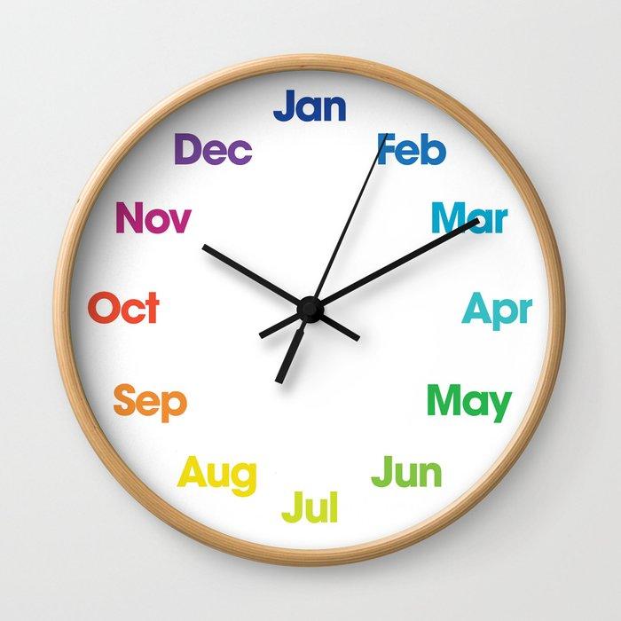 Time Sure Flies - Seasons Wall Clock