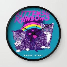 Kittens & Rainbows Wall Clock