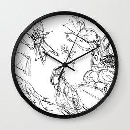 Birds at the Hamlins           by Kay Lipton Wall Clock