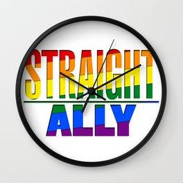 Straight Ally Wall Clock