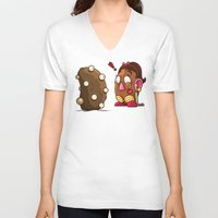 potato V-neck T-shirts featuring Potato Potaato by Artistic Dyslexia