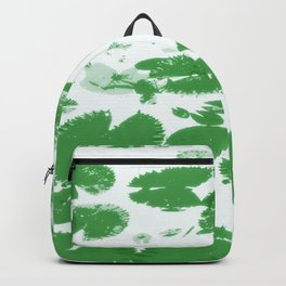 Water lily leaves white Backpack