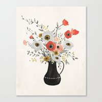 poppies Canvas Prints featuring Poppies by Kelli Murray